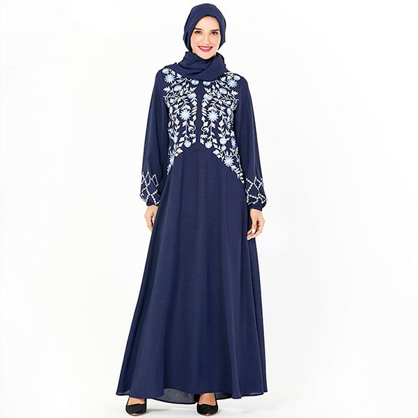abaya allaitement bleu muslim mine