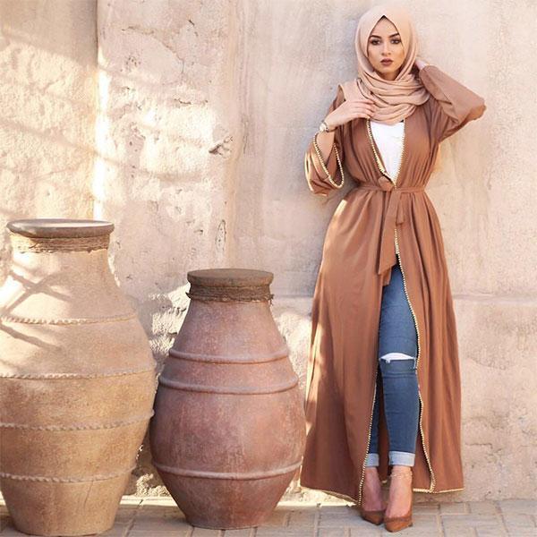 Abaya Cardigan dorée Muslim Mine
