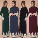 Plusieurs modèles abaya chix Muslim Mine