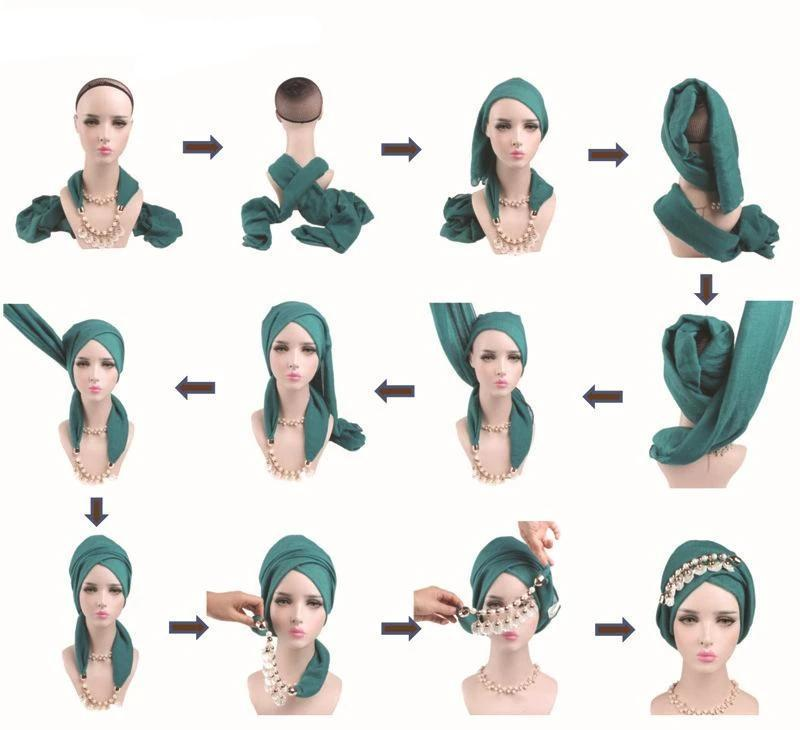 Comment mettre turban hijab Muslim Mine