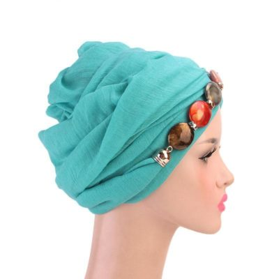 turban hijab collier côté muslim mine