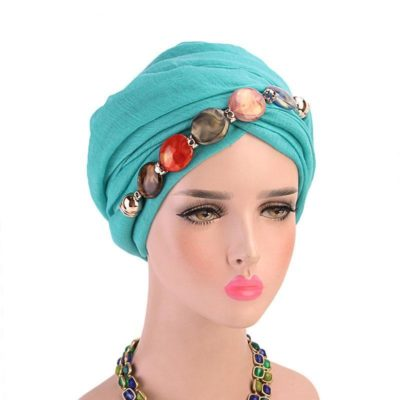 turban hijab collier turquoise muslim mine
