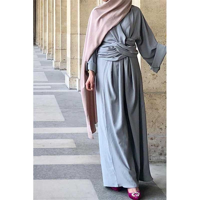 Abaya Paris 4 en 1 grise Muslim Mine