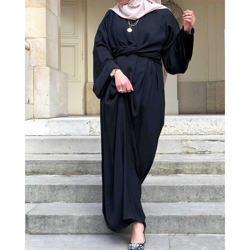Abaya Paris 4 en 1 noir Muslim Mine