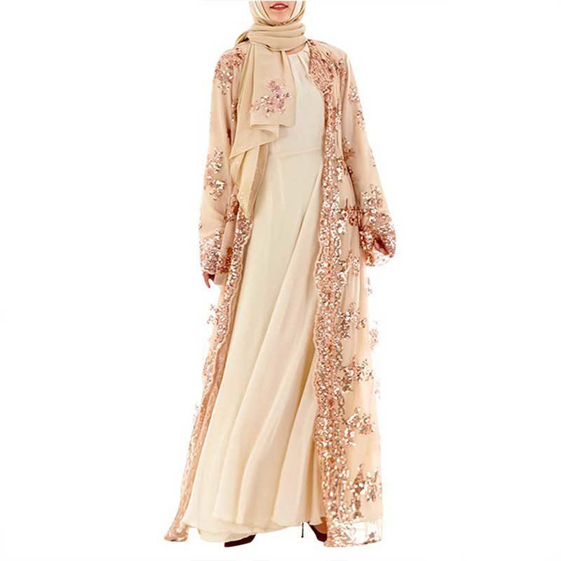 Abaya sequin kimono Muslim Mine