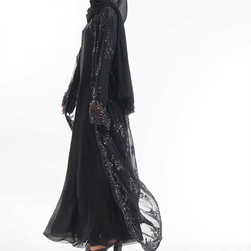 Abaya sequin noir Muslim Mine