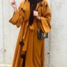 Abaya turque marron muslim mine