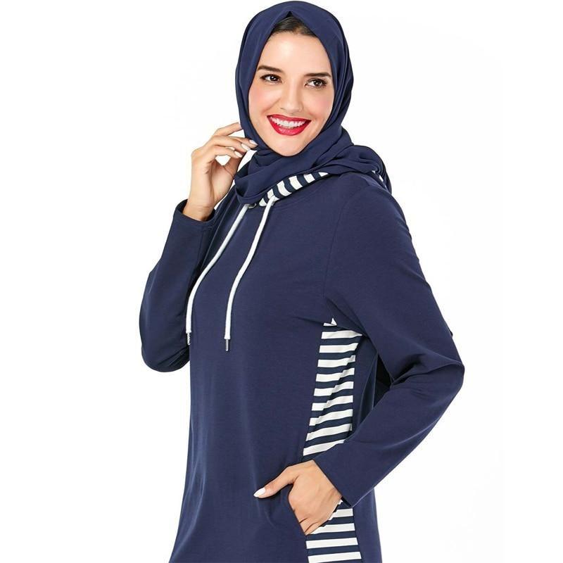 Tenue de Sport Hijab marine Muslim Mine