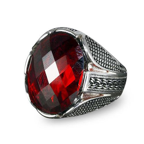 bague islam zircon rouge Muslim Mine