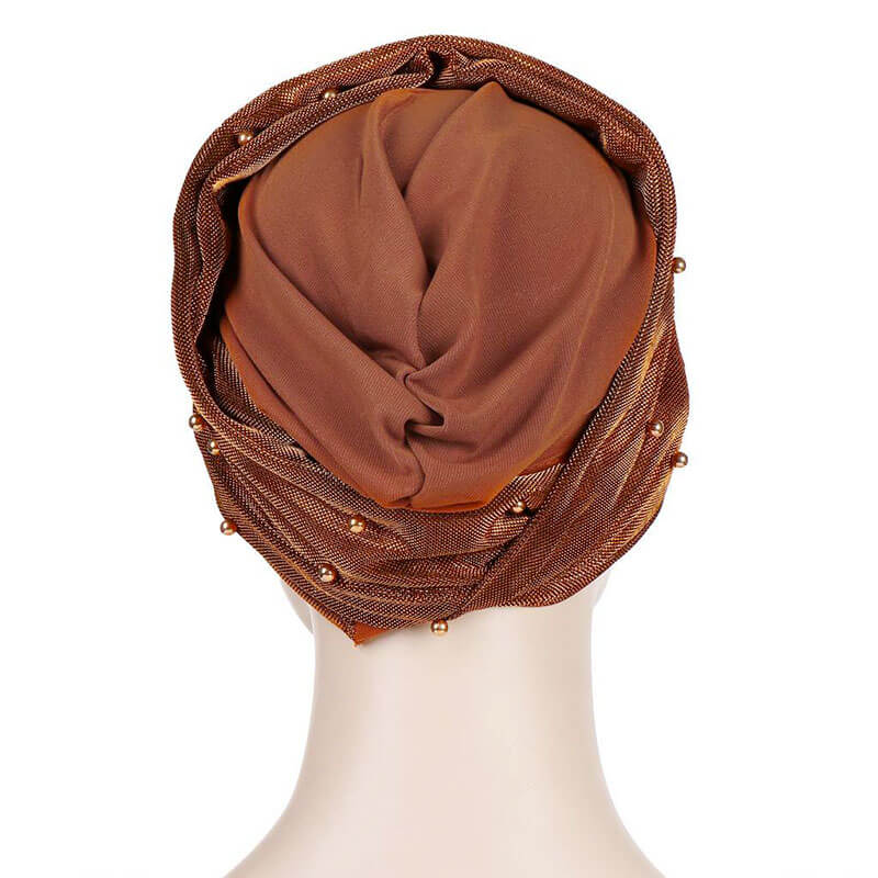 arrière bonnet croise brillant muslim mine