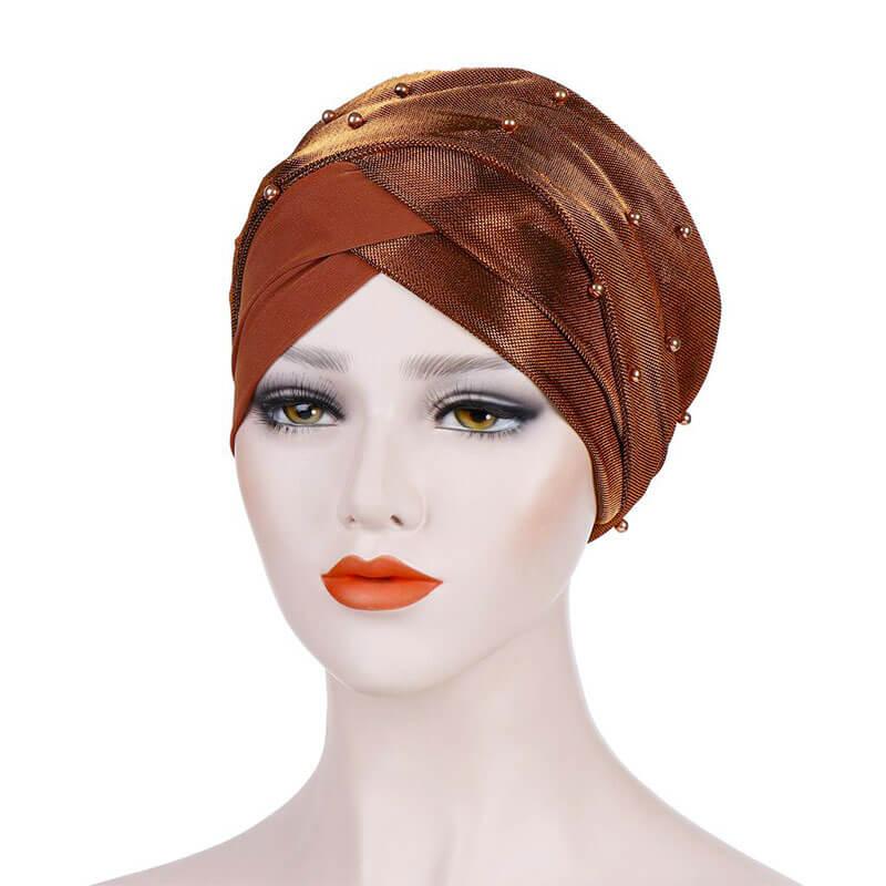 bonnet croise brillant muslim mine
