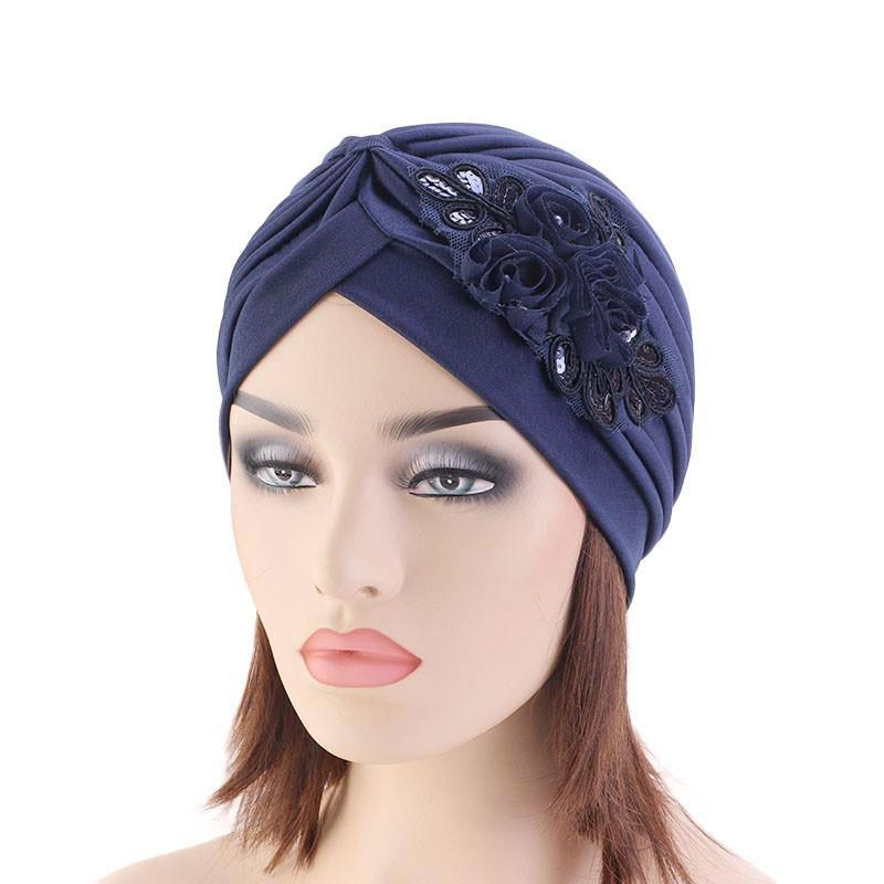 bonnet dentelle perles muslim mine