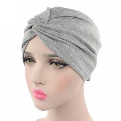 Bonnet Hijab Noeud à l'avant gris Muslim Mine