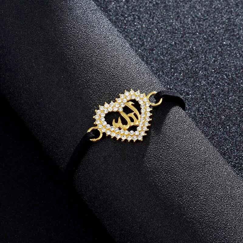 Bracelet Allah doré Femme Musulmane Muslim Mine