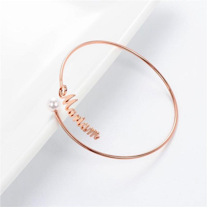 bracelet prénom arabe français rose dorée muslim mine