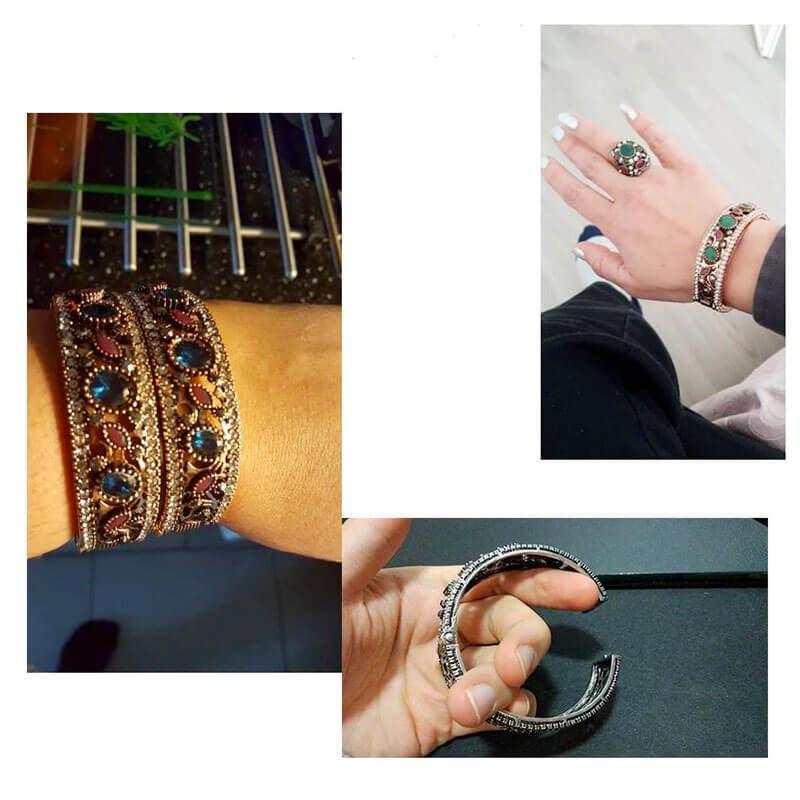 Femme porte bracelet turc Muslim Mine