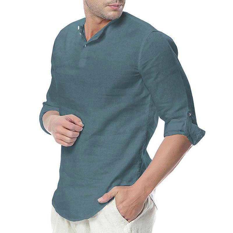 chemise arabe sans col muslim mine