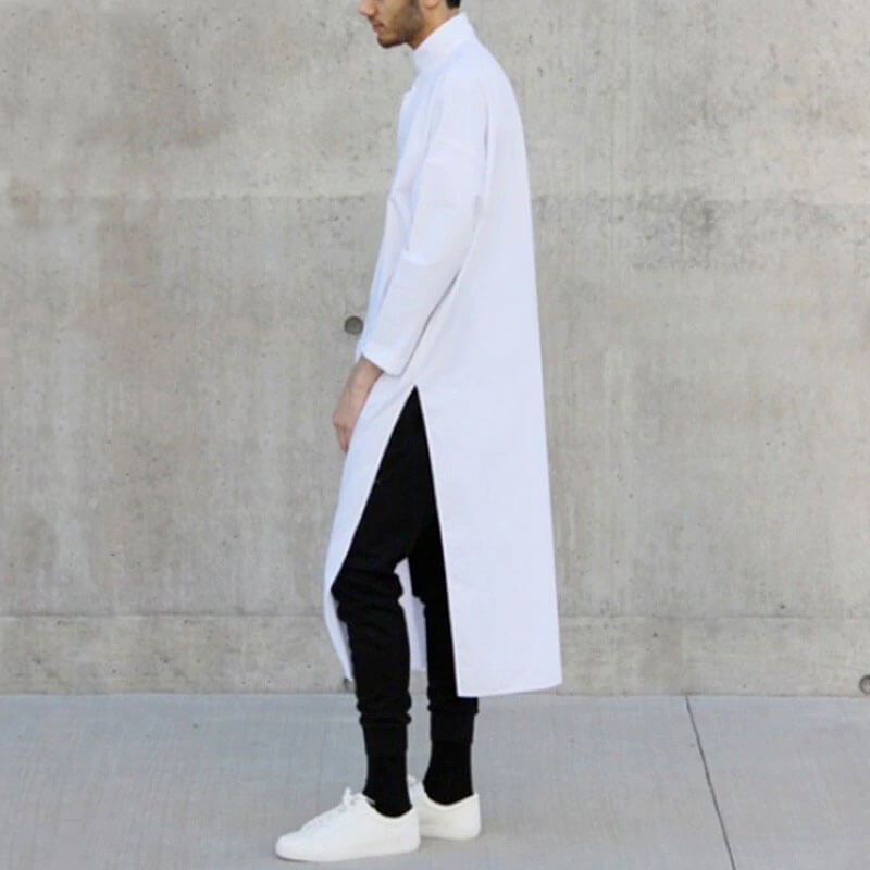 chemise longue homme islam blanche muslim mine