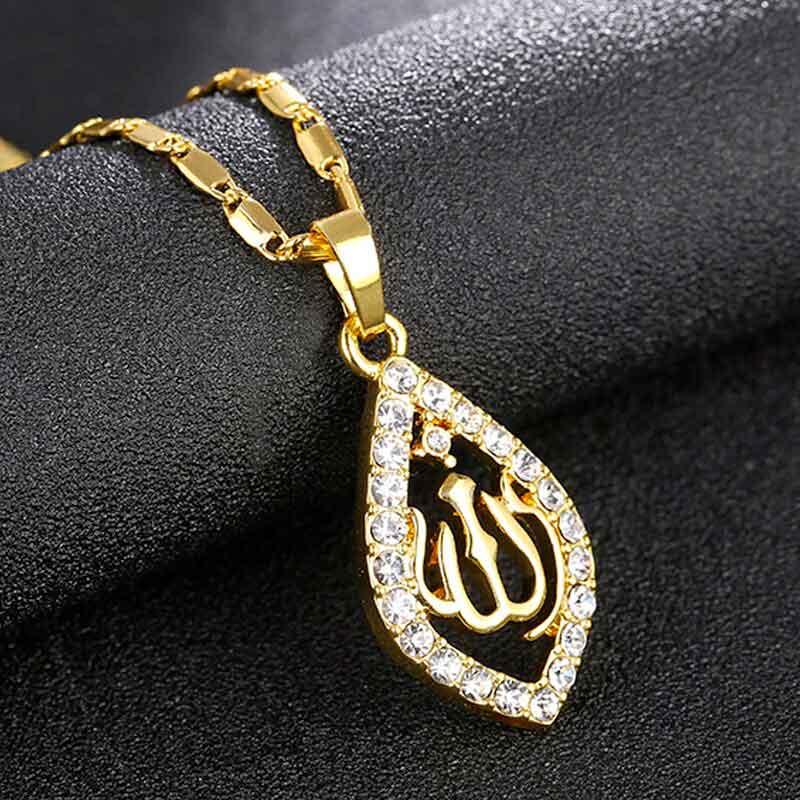 collier Allah cristaux muslim mine
