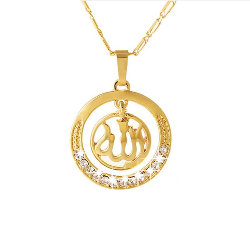 collier allah femme muslim mine