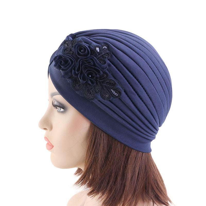 Modèles bonnet dentelle perles muslim mine