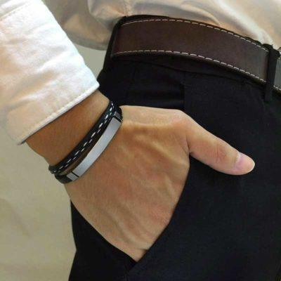 homme bracelet presonnalise musulman