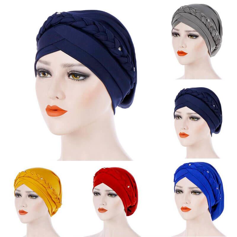 Modèles bonnet hijab croise muslim mine