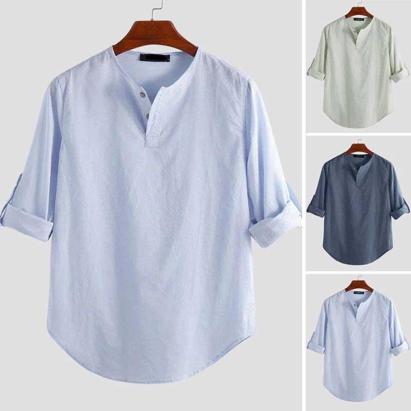 modèles chemise arabe sans col muslim mine