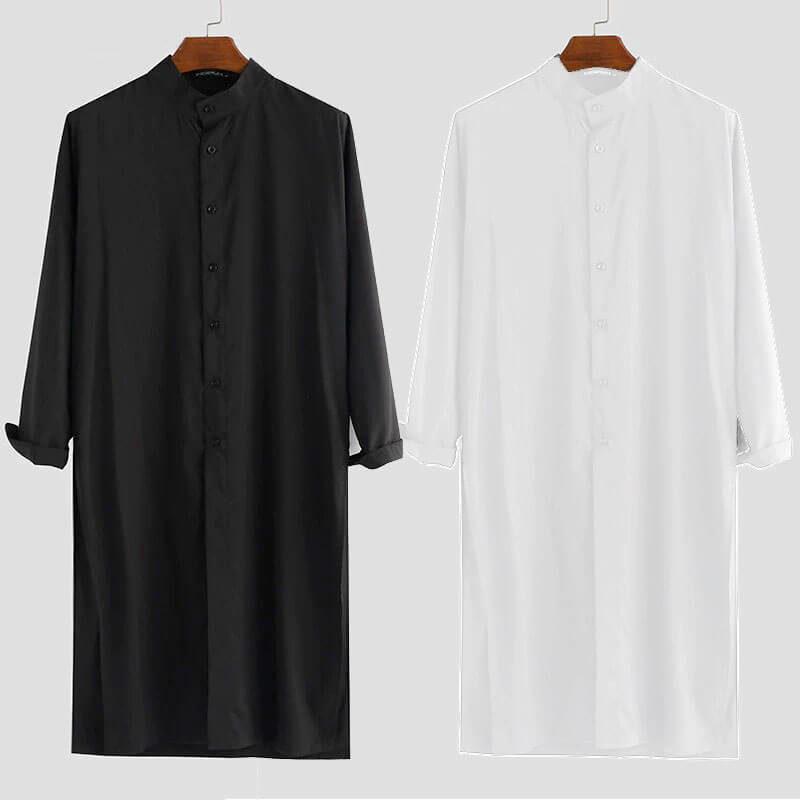 modèles chemise longue-homme islam muslim mine