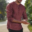 chemise orientale rouge muslim mine