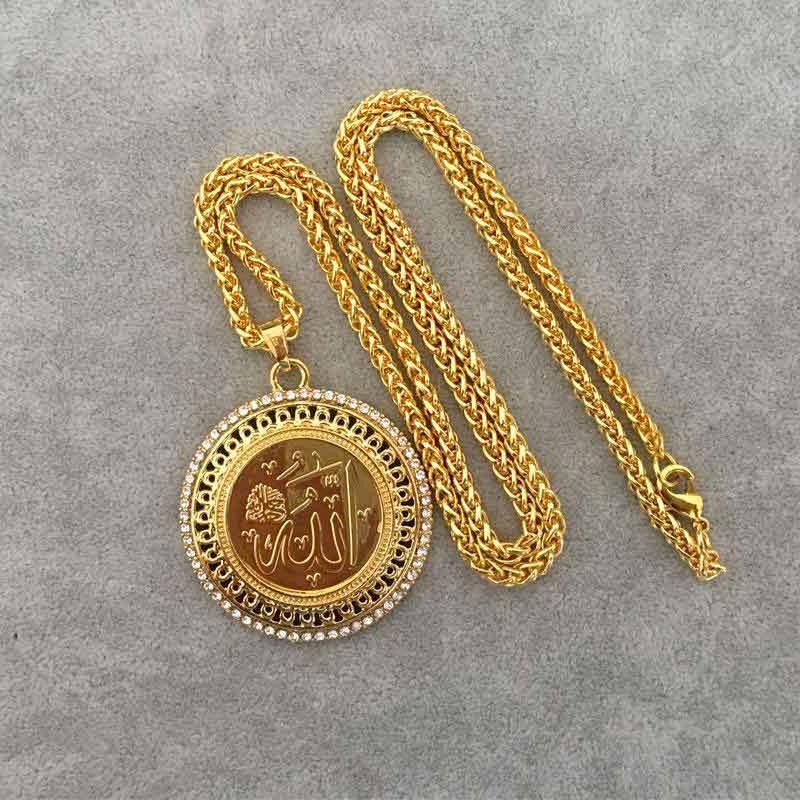 pendentif allah or muslim mine