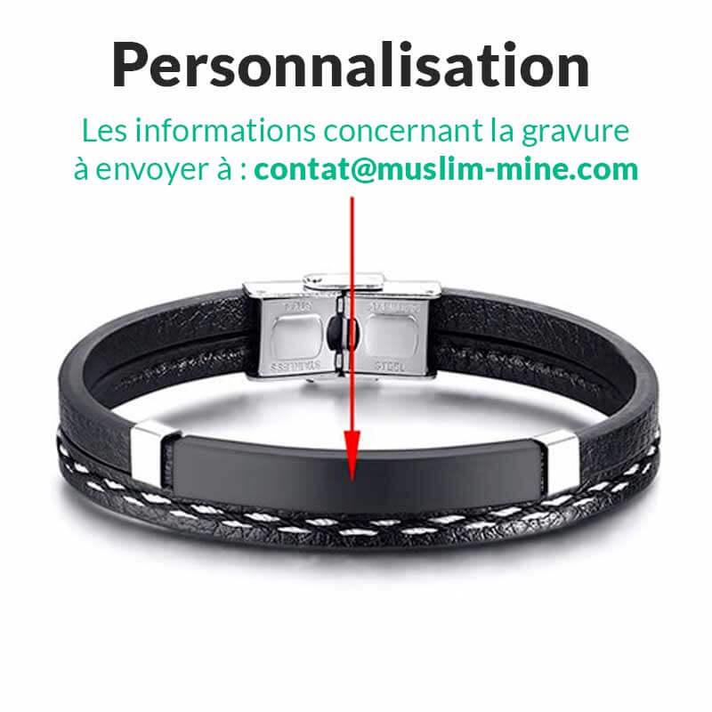 guide personnalisation bracelet homme musulman Muslim Mine