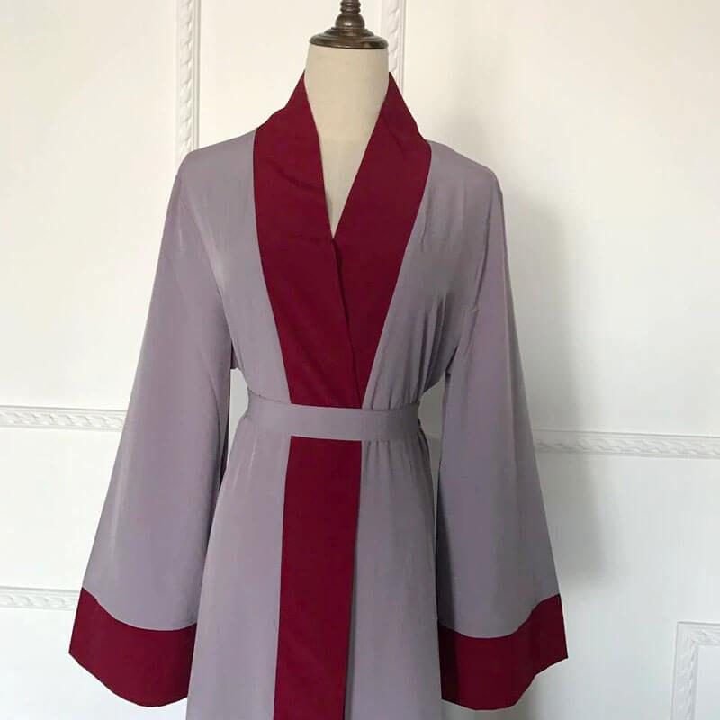 détail Kimono Abaya Muslim Mine