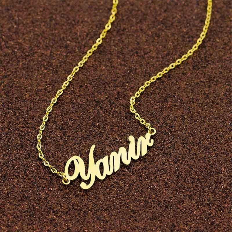 collier personnalisé prénom muslim mine