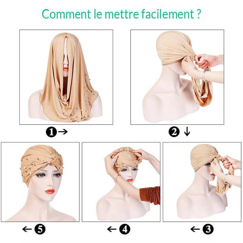 comment mettre hijab turban muslim mine