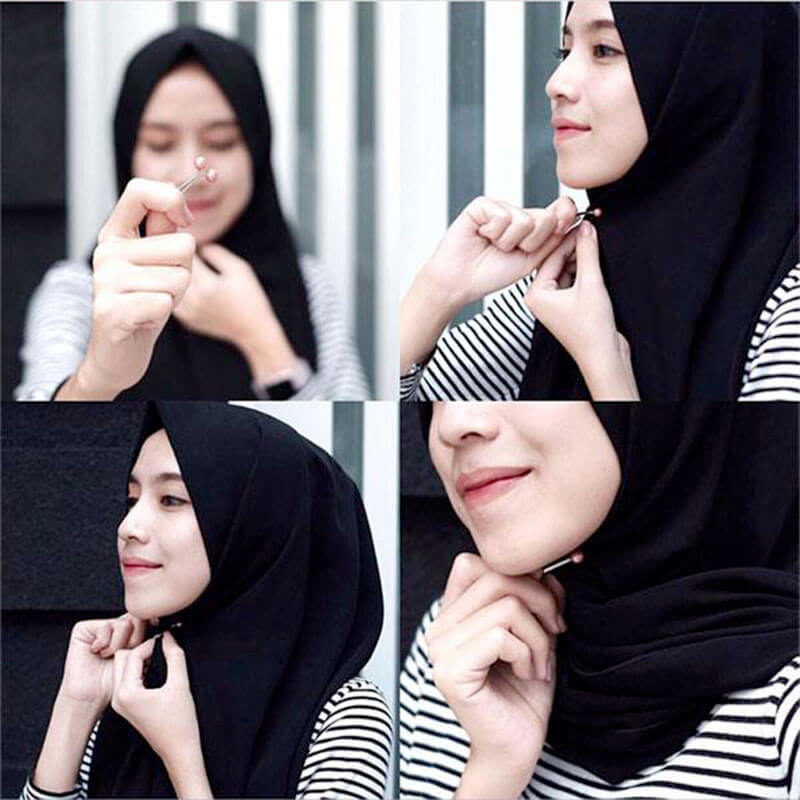 comment mettre pince hijab muslim mine