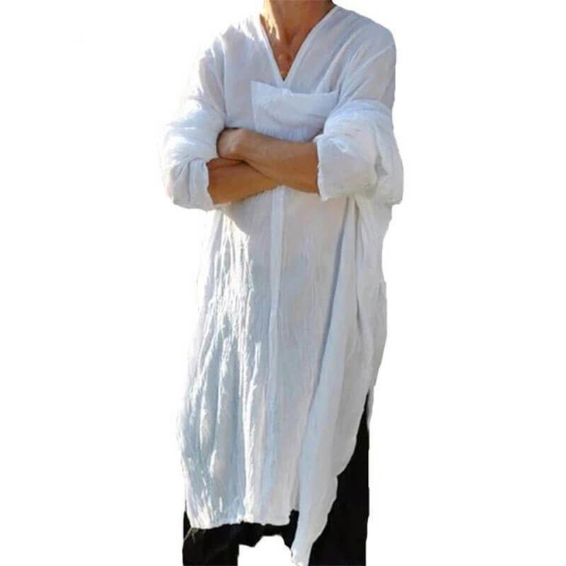 gandoura homme touareg blanche muslim mine