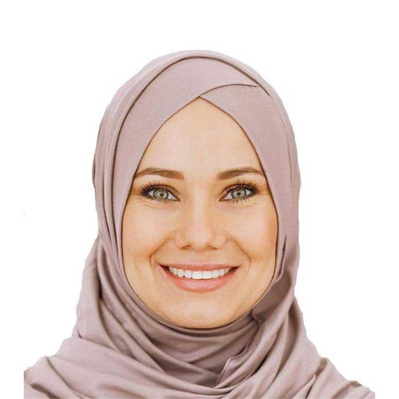 hijab à enfiler croise muslim mine