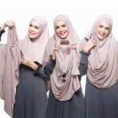 hijab à enfiler double boucle muslim mine