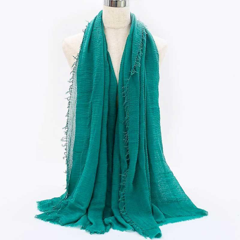 hijab froissé turquois muslim mine