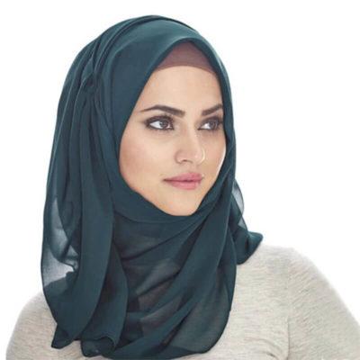 hijab mousseline de soie muslim mine
