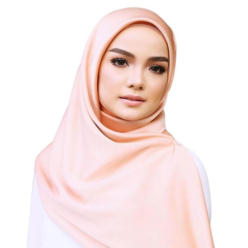 hijab satin lisse soyeux muslim mine