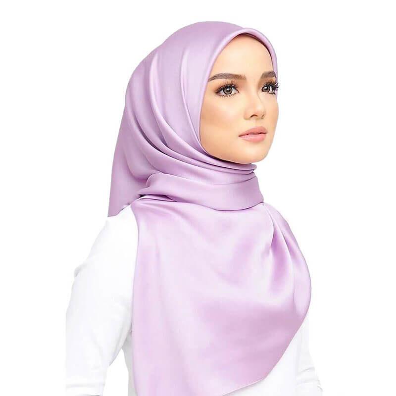 hijab satin muslim mine