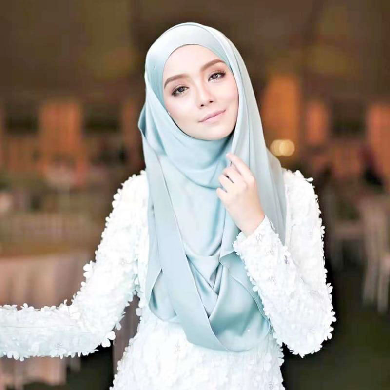 hijab soie satin muslim mine