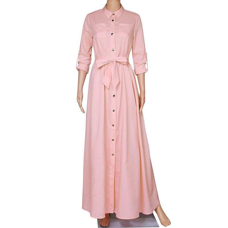 mannequin robe longue musulmane rose muslim mine