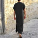 modele qamis manche courte muslim mine