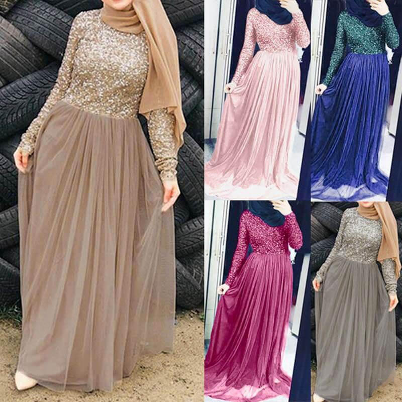 modele robe de soirée muslim mine