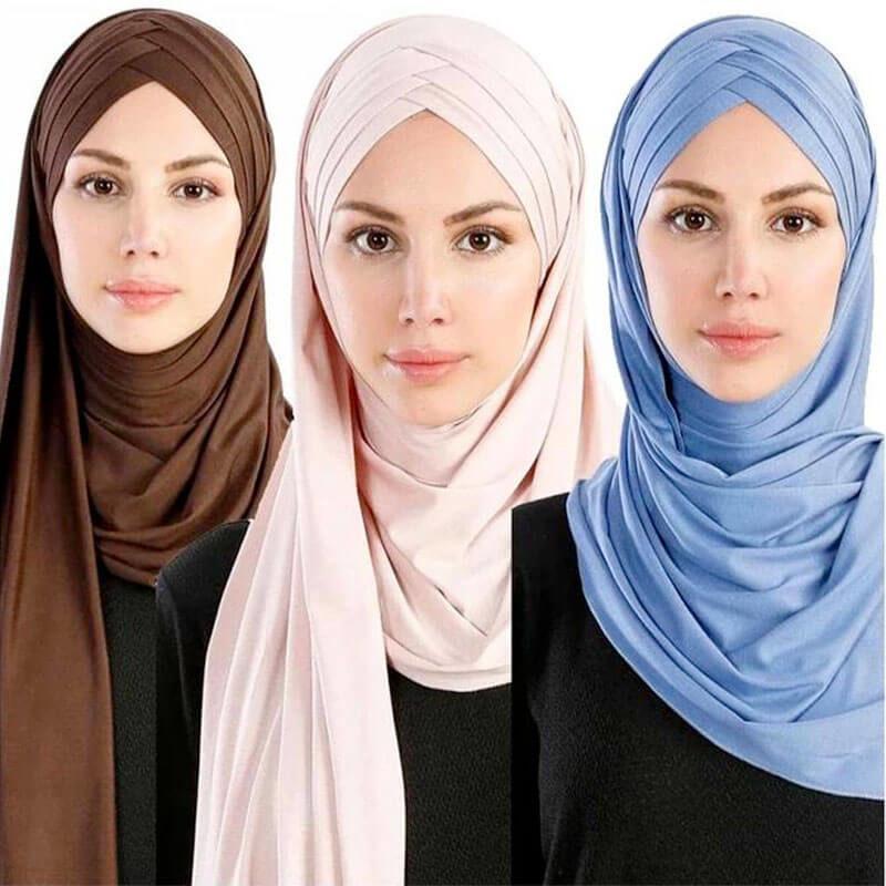 modèles hijab croise triple muslim mine