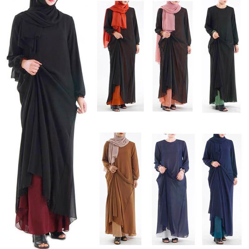 modèles robe 2 en 1 muslim mine