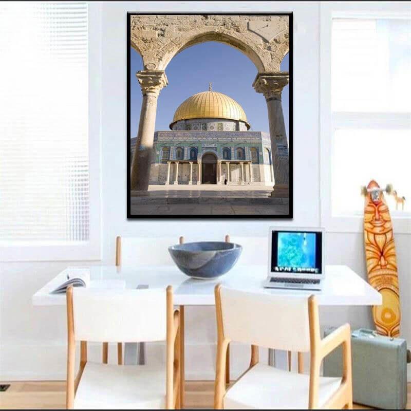poster dome du rocher muslim mine
